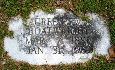 Acree Lewis Boatwright Gravestone