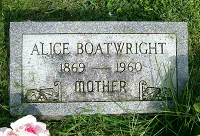 Alice Chapman Boatwright Marker