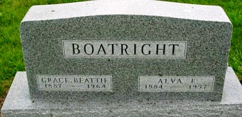Alva Egbert and Grace Beattie Boatright Gravestone