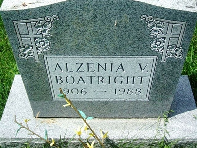 Alzenia V. Hall Boatright Gravestone