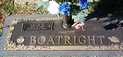 Arlis Dorsey Boatright Gravestone