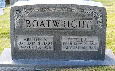 Arthur Sinclair and Estelle L. Alexander Boatwright Gravestone