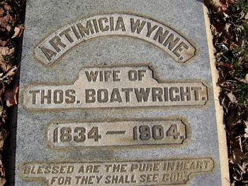 Artimicia Wynne Boatwright Gravestone
