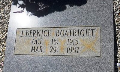 Bernice Boatright Gravestone