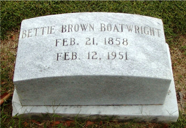 Bettie Brown Boatwright Marker