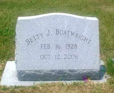 Betty Jordan Boatwright Gravestone