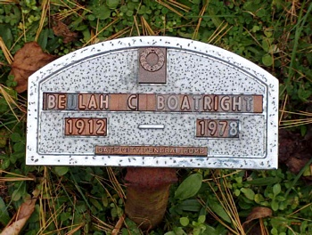Beulah C. Boatright Marker