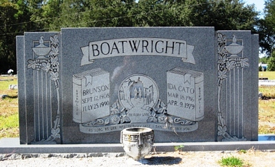 Brunson and Ida Cato Boatwright Gravestone