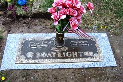 Carl Eugene and Pearl Marie Hite Boatright Gravestone