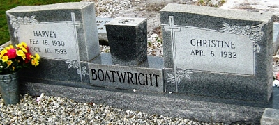 Carlton Harvey Boatwright Gravestone