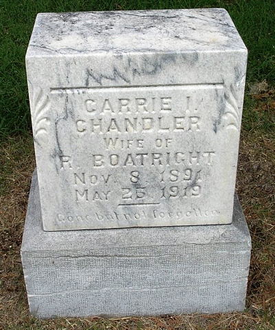 Carrie Isabelle Chandler Boatright Gravestone