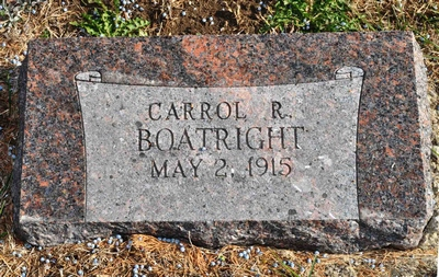 Carrol Robert Boatright Gravestone