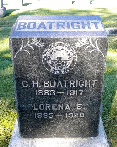Charles Henry and Lorena Earls Graham Boatright Gravestone