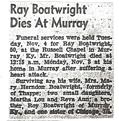 Charles Ray Boatwright Obit