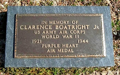 Clarence Edward Boatright Jr Marker in Elmwood Cemetery