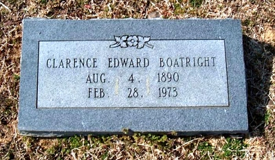 Clarence Edward Boatright Marker