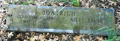 Clarence Joseph and Kitty Evans Boatright Gravestone