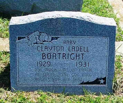Clayton Ladell Boatright Gravestone