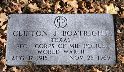 Clifton Jewel Boatright Gravestone