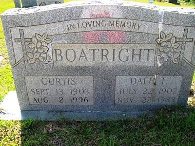 Curtis and Dale Tarver Boatright Gravestone