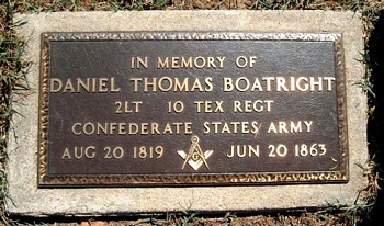 Daniel Thomas Boatright Marker - he is not buried here