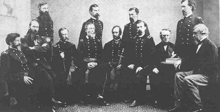 The Military Commission; David R. Clendenin on far left