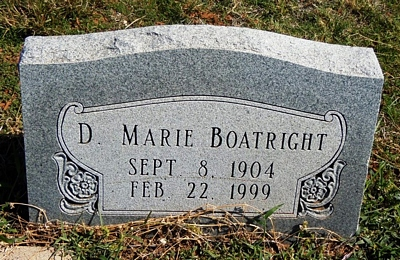 Docia Marie Dickerson Boatright Gravestone