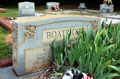 Doctor Melvin and Malissa Ella Sparks Boatright Gravestone