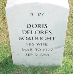 Doris Deloris Dooley Boatright Gravestone