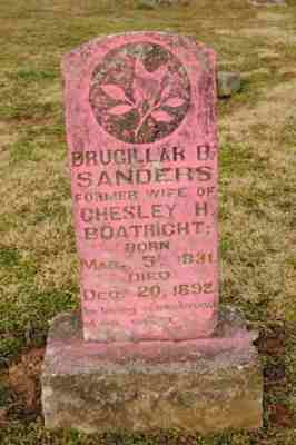 Drucilla Bess Long Boatright Sanders Gravestone