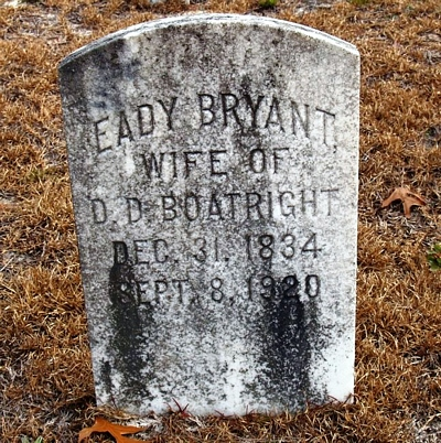 Eady Bryant Boatright Gravestone