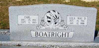 Earl T. and Lula Mae Davis Boatright Gravestone