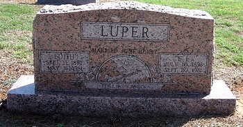 Edith Belle Boatwright Luper Gravestone