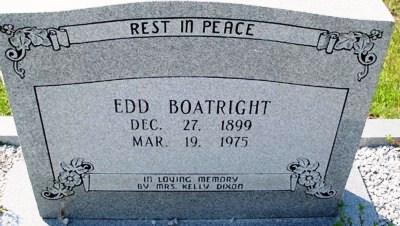 Edward Archie Boatright Gravestone