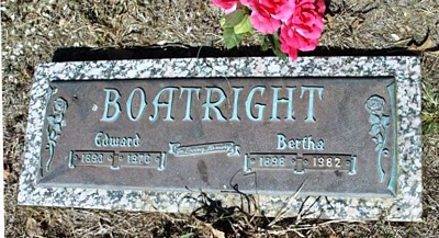 Edward Harvey and Bertha Boatright Gravestone