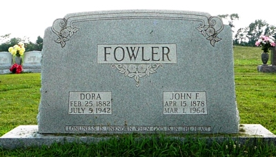 Eldora Boatright and John Fowler Gravestone