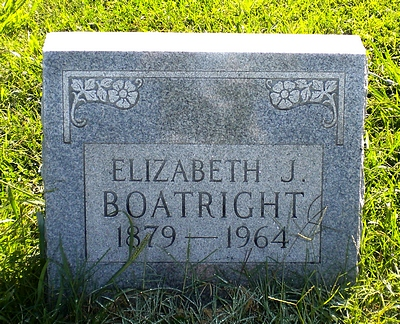 Elizabeth Jane Stansberry Boatright Gravestone