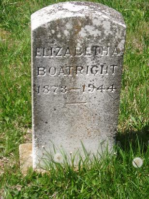 Elizabeth Todd Johnson Boatright Gravestone