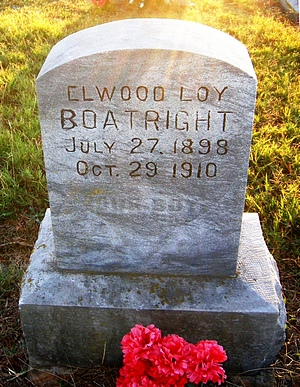 Elwood Loy Boatright Gravestone: