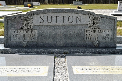 Essie Mae Boatright and Claude Elton Sutton Gravestone
