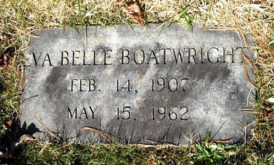Eva Belle Swayngim Boatright Marker