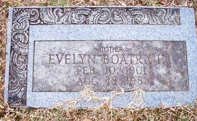 Evelyn Thompson Boatright Gravestone