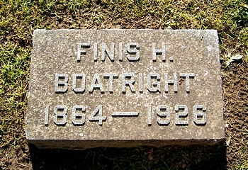 Finis Harvey Boatright Marker