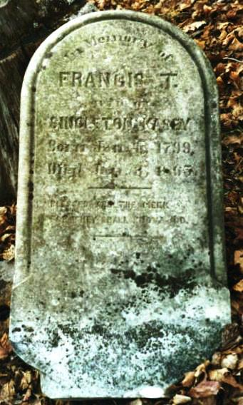 Frances Tinsley Boatsright Kasey Gravestone