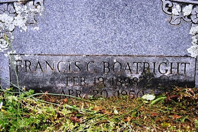 Francis Carroll Boatright Gravestone
