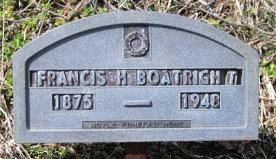 Francis Howard Boatright Gravestone