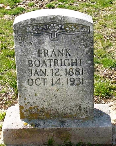 Frank Boatright Gravestone