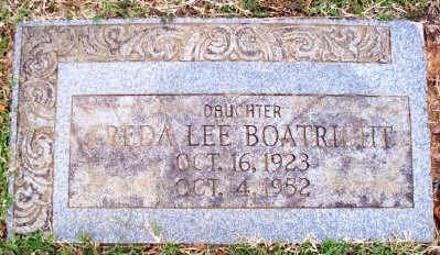 Freda Lee Boatright Gravestone