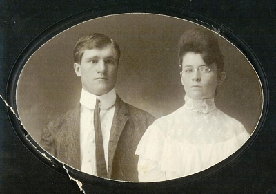Friend William Boatright and Evie williams on their wedding day