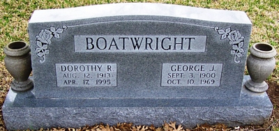 George Jackson and Dorothy R. Boatwright Gravestone